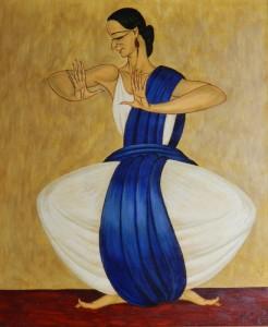 Danseuse au drapé bleu - 1952