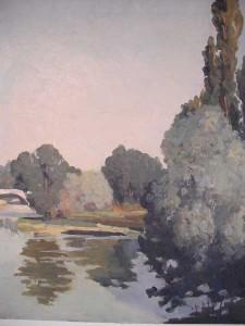 Arbres sur le Doubs 1938